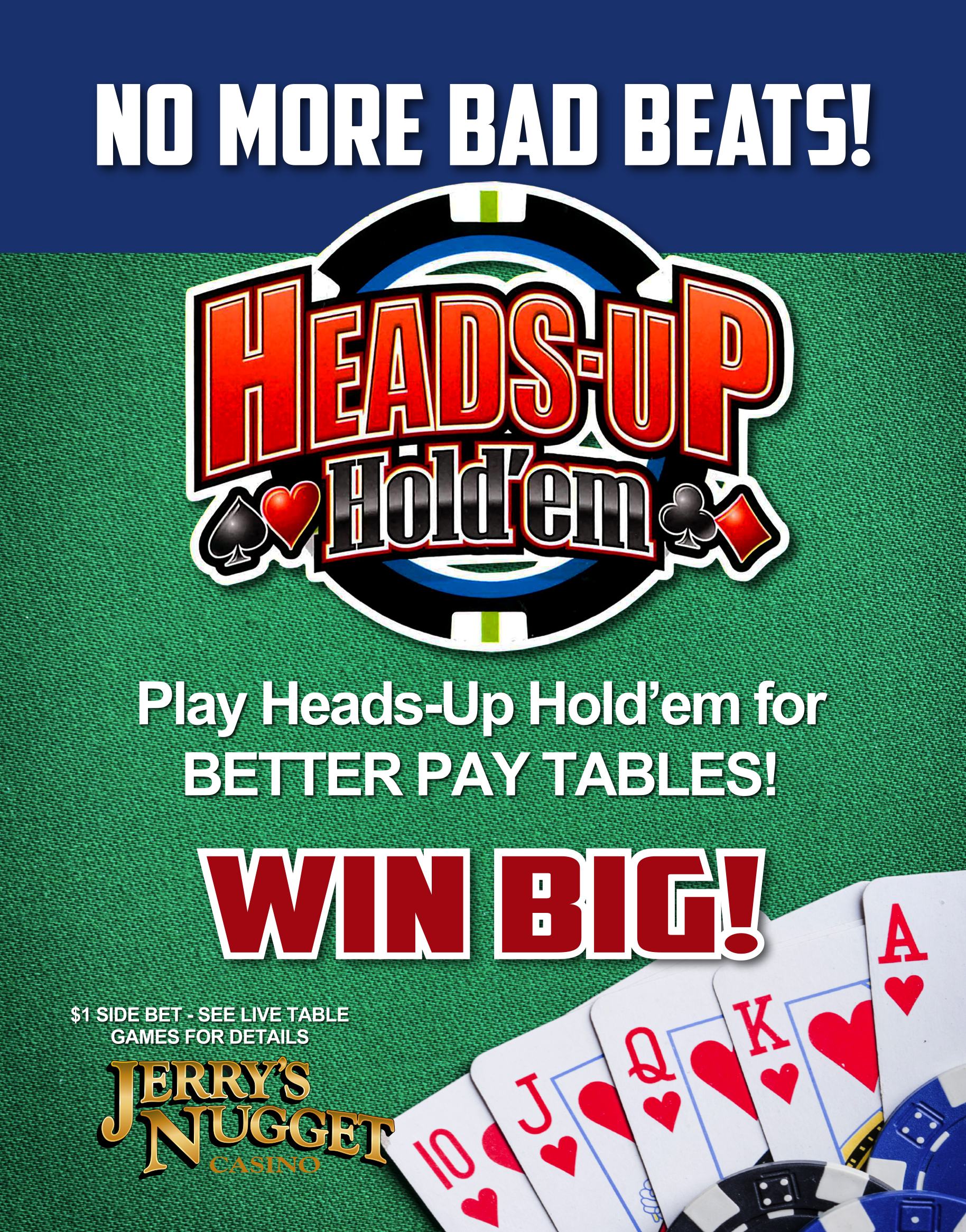 Live Table Games Heads Up Hold 'Em