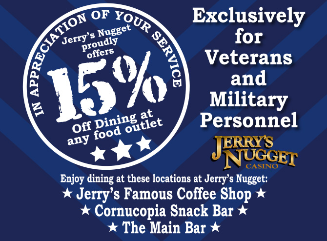 15% Military Dining Discount