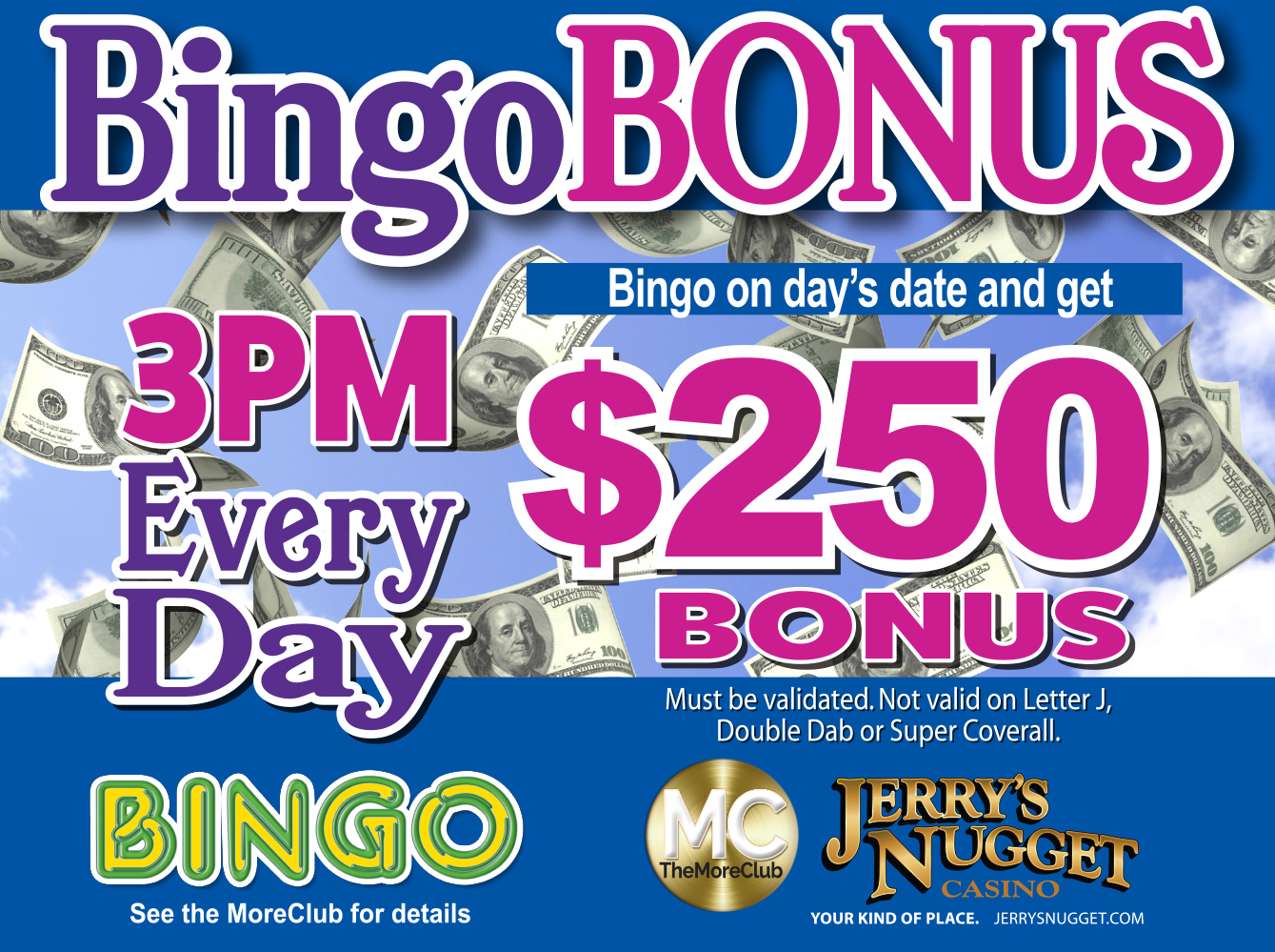 $250 Bingo Bonus Every Day