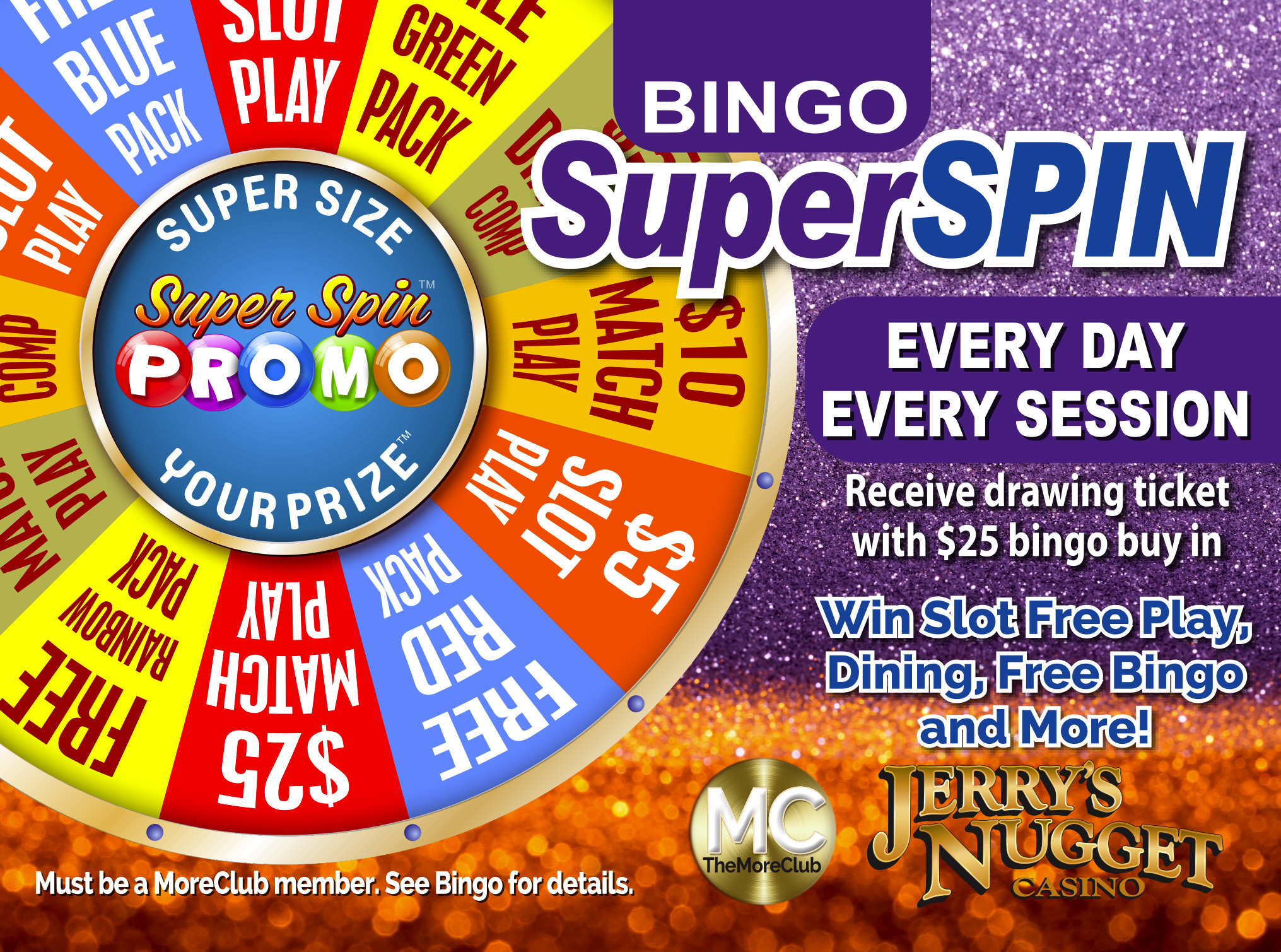 Bingo Super Spin Prize Giveaway