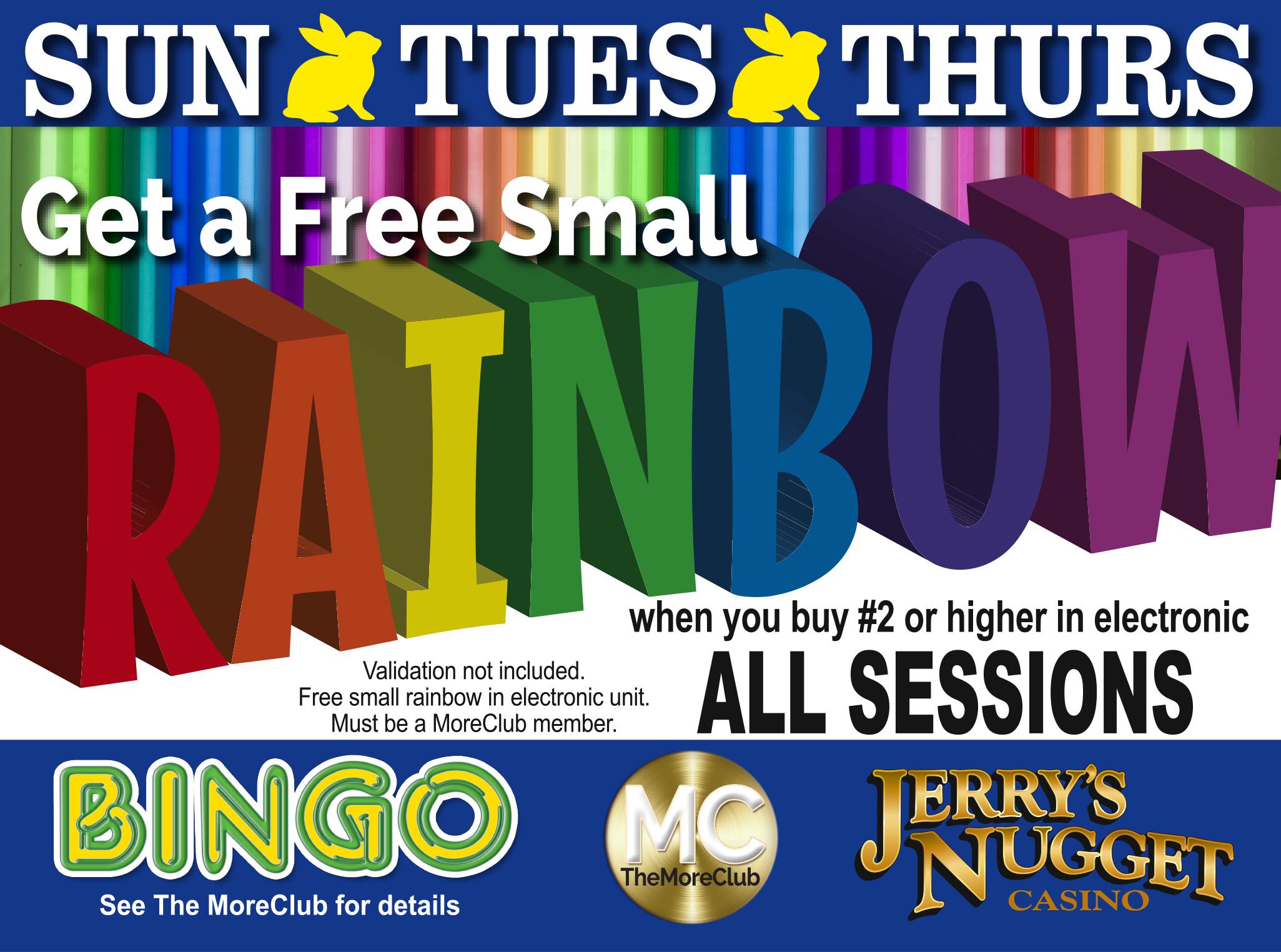 Bingo Free Small Rainbow