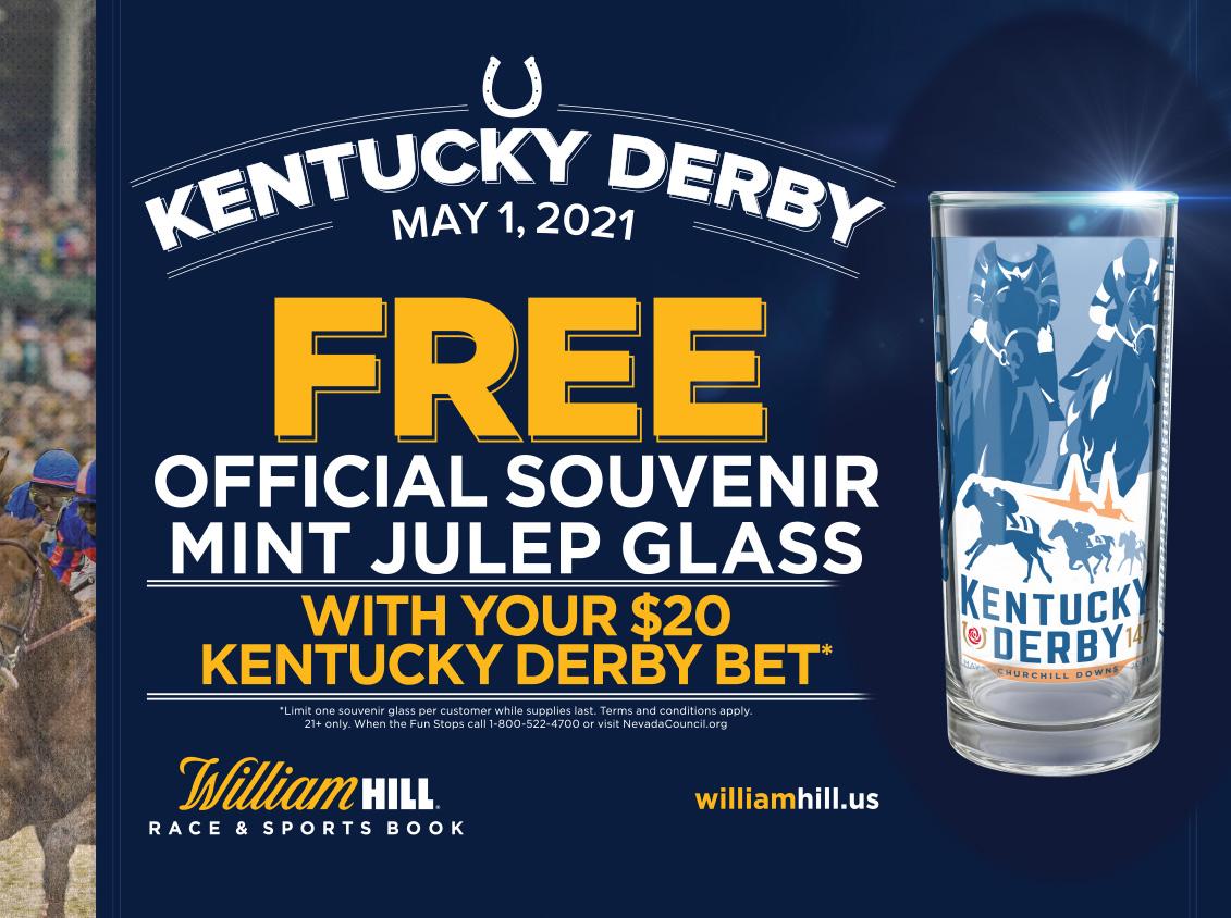 Kentucky Derby Free Mint Julep Glass
