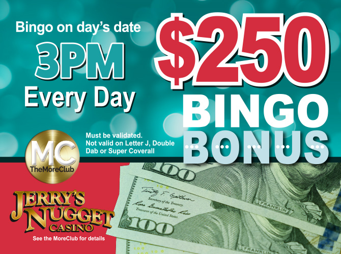 Bingo $250 Bonus