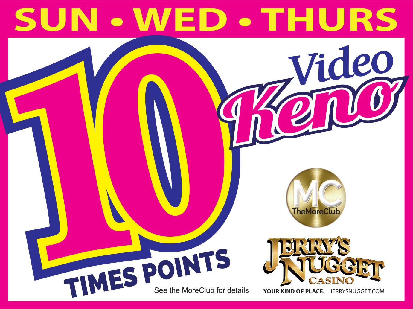 10x Points Video Keno
