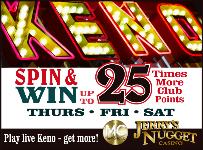 Live Keno up to 25x Points
