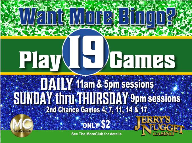 Bingo 2nd Chance Games