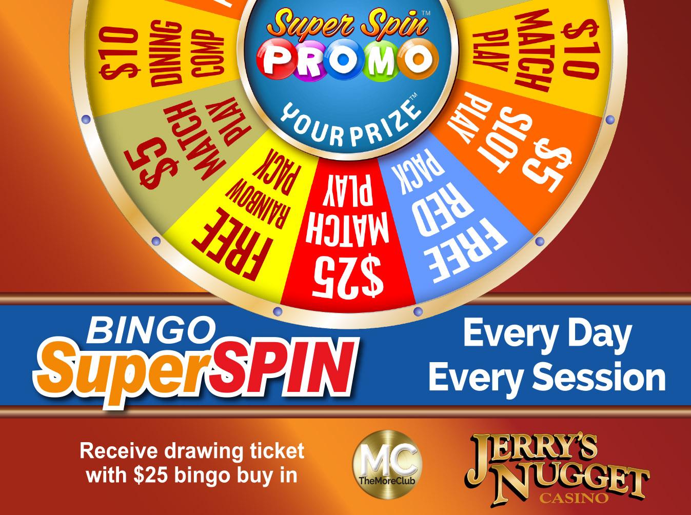 Bingo Super Spin Prizes