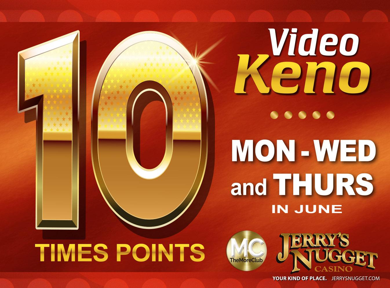 Video Keno 10x Points