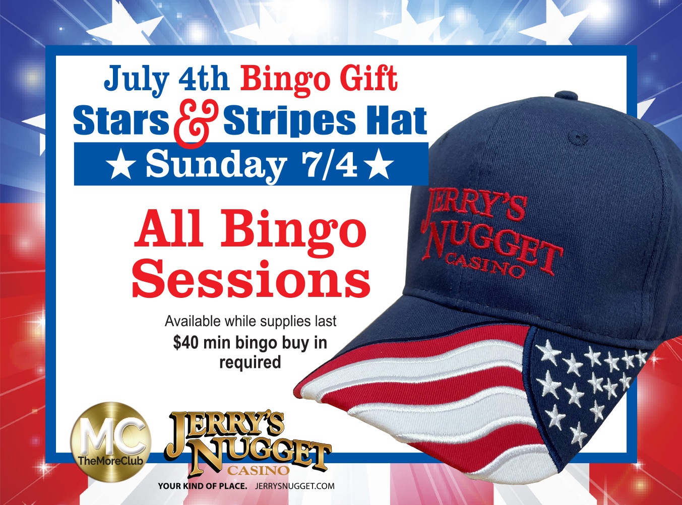 Bingo Free Gift July 4th